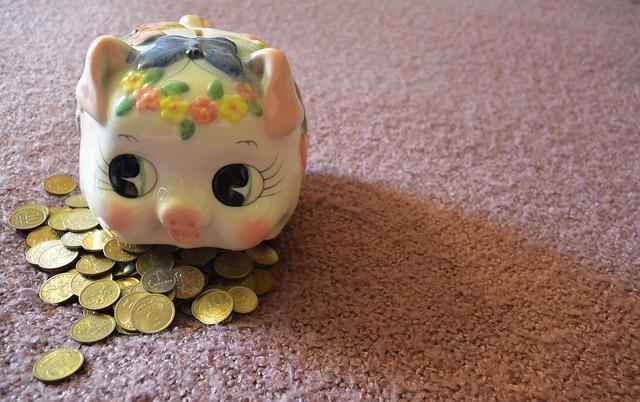 pokladnička na mincích
