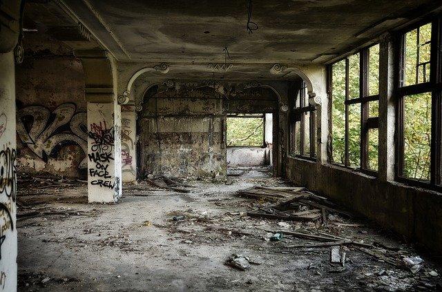 zničená vila