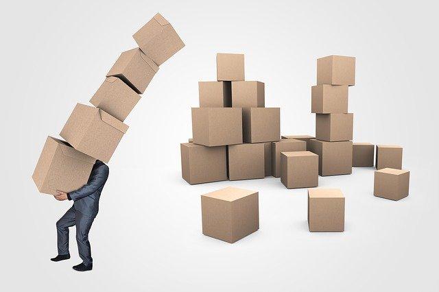 kartonové krabice, stěhování